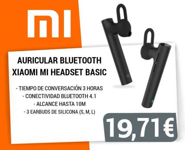AURICULAR BLUETOOTH XIAOMI MI HEADSET BASIC BT