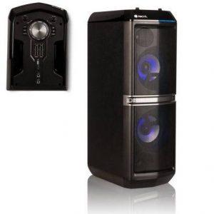 ALTAVOZ PORTÁTIL NGS SKY HOME - 200W - BLUETOOTH - FM - USB/AUX IN - DOBLE ENTRADA MICRÓFONO - FUNCIÓN KARAOKE - 2 SUBWOOFER