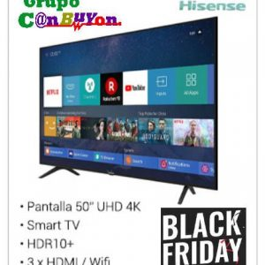 "TELEVISOR LED HISENSE H50B7100 - 50""/127CM UHD 4K 3840*2160 - HDR10- DVB-T2/T/C/S2/S - SMART TV - AUDIO 2*8W - WIFI - 3*HDMI - 2*USB - MODO HOTEL"