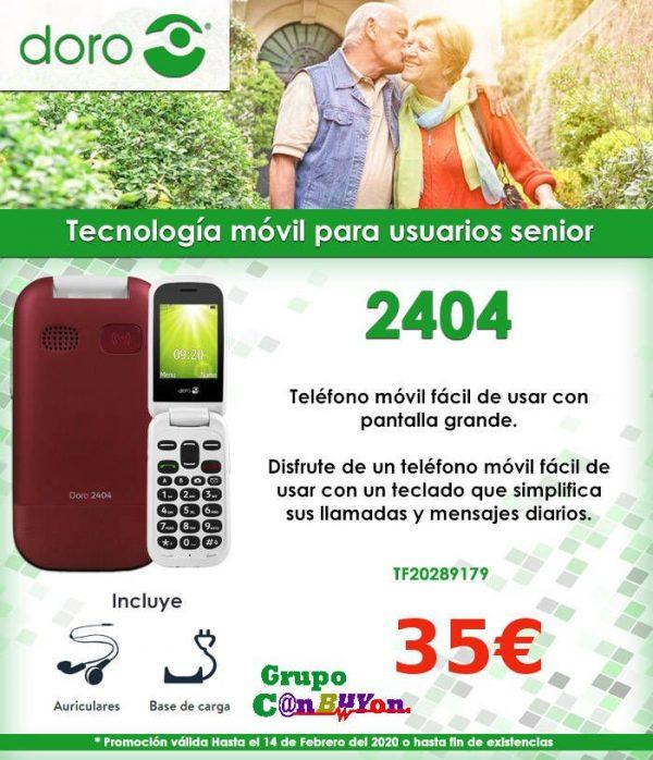 TELEFONO MÓVIL SENIOR DORO 2404